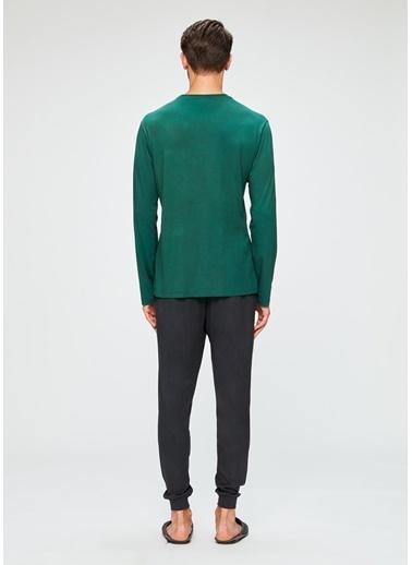 Dagi O Patlı Uzun Kollu Pijama Takımı Yeşil